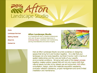 Afton Mountain Landscape Studio Website