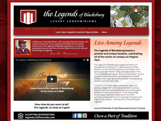 Legends of Blacksburg Website