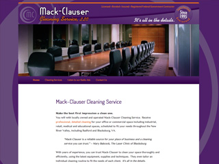Mack Clauser Cleaning Website