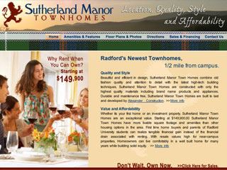 Sutherland Manor Web Site