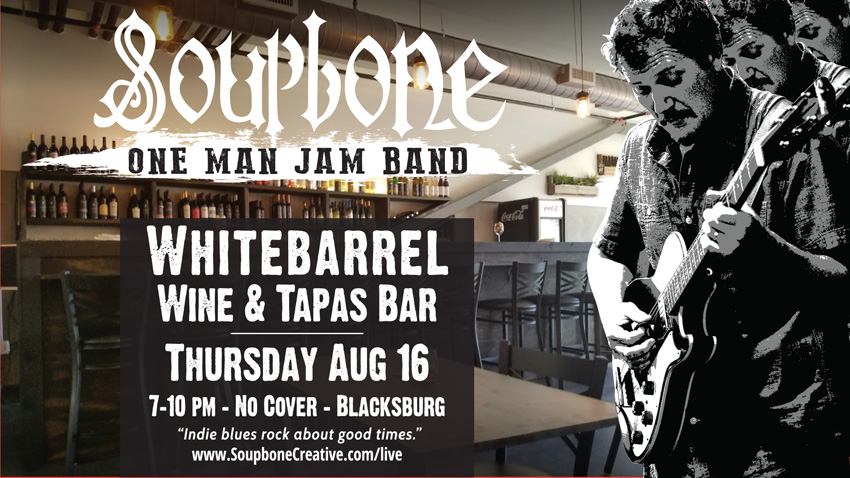 Soupbone plays Blacksburg Wine & Tapas Bar